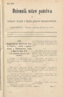 Dziennik Ustaw Państwa dla Królestw i Krajów w Radzie Państwa Reprezentowanych. 1914, nr87