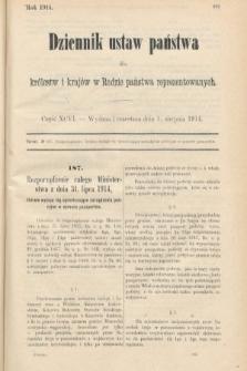 Dziennik Ustaw Państwa dla Królestw i Krajów w Radzie Państwa Reprezentowanych. 1914, nr96
