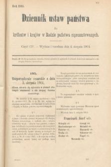Dziennik Ustaw Państwa dla Królestw i Krajów w Radzie Państwa Reprezentowanych. 1914, nr104