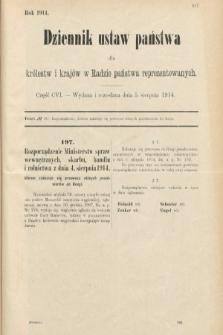 Dziennik Ustaw Państwa dla Królestw i Krajów w Radzie Państwa Reprezentowanych. 1914, nr106