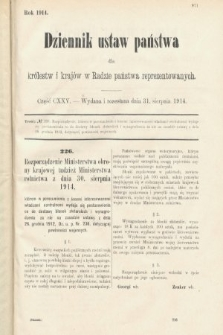 Dziennik Ustaw Państwa dla Królestw i Krajów w Radzie Państwa Reprezentowanych. 1914, nr125