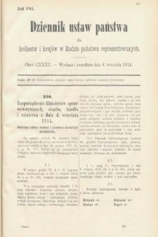 Dziennik Ustaw Państwa dla Królestw i Krajów w Radzie Państwa Reprezentowanych. 1914, nr132