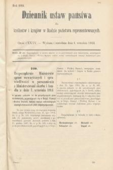 Dziennik Ustaw Państwa dla Królestw i Krajów w Radzie Państwa Reprezentowanych. 1914, nr135