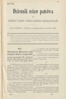 Dziennik Ustaw Państwa dla Królestw i Krajów w Radzie Państwa Reprezentowanych. 1914, nr136