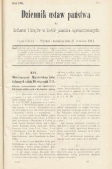 Dziennik Ustaw Państwa dla Królestw i Krajów w Radzie Państwa Reprezentowanych. 1914, nr144