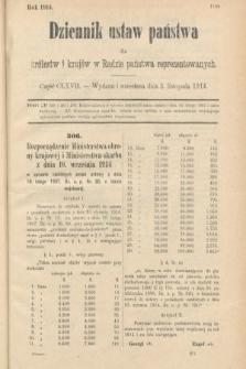Dziennik Ustaw Państwa dla Królestw i Krajów w Radzie Państwa Reprezentowanych. 1914, nr167