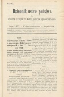 Dziennik Ustaw Państwa dla Królestw i Krajów w Radzie Państwa Reprezentowanych. 1914, nr175