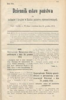 Dziennik Ustaw Państwa dla Królestw i Krajów w Radzie Państwa Reprezentowanych. 1914, nr193