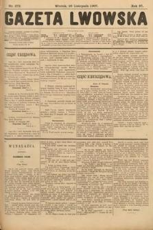 Gazeta Lwowska. 1907, nr272