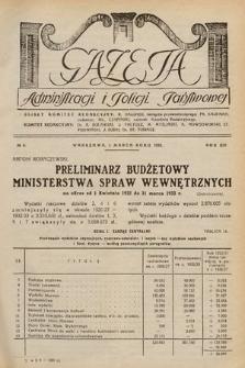 Gazeta Administracji i Policji Państwowej. 1932, nr5