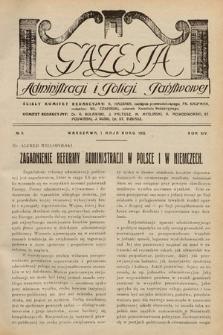 Gazeta Administracji i Policji Państwowej. 1932, nr9