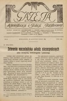 Gazeta Administracji i Policji Państwowej. 1932, nr16