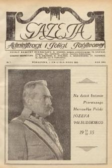 Gazeta Administracji i Policji Państwowej. 1935, nr7