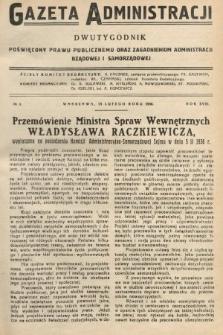 Gazeta Administracji : dwutygodnik poświęcony prawu publicznemu oraz zagadnieniom administracji rządowej i samorządowej. 1936, nr4