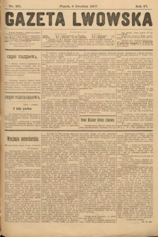 Gazeta Lwowska. 1907, nr281