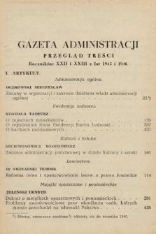 Gazeta Administracji : miesięcznik poświęcony prawu publicznemu oraz zagadnieniom administracji publicznej. 1945 i 1946 [całość]