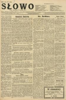 Słowo. 1926, nr272