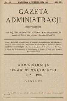 Gazeta Administracji : dwutygodnik poświęcony prawu publicznemu oraz zagadnieniom administracji rządowej i samorządowej. 1939, nr7-8