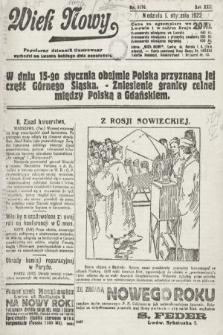 Wiek Nowy : popularny dziennik ilustrowany. 1922, nr6176
