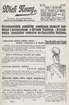 Wiek Nowy : popularny dziennik ilustrowany. 1922, nr6178