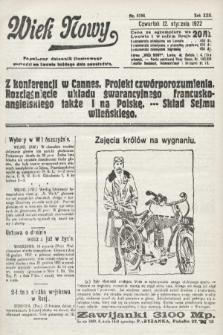 Wiek Nowy : popularny dziennik ilustrowany. 1922, nr6184