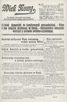 Wiek Nowy : popularny dziennik ilustrowany. 1922, nr6191