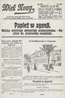 Wiek Nowy : popularny dziennik ilustrowany. 1922, nr6193