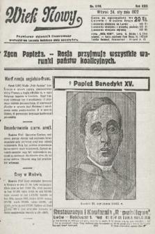 Wiek Nowy : popularny dziennik ilustrowany. 1922, nr6194