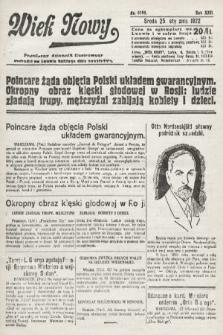 Wiek Nowy : popularny dziennik ilustrowany. 1922, nr6195