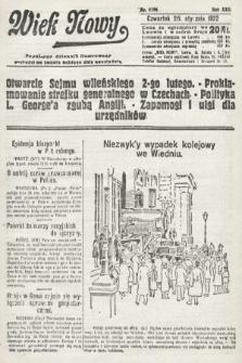 Wiek Nowy : popularny dziennik ilustrowany. 1922, nr6196