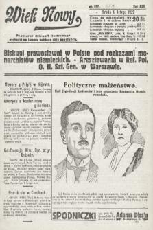 Wiek Nowy : popularny dziennik ilustrowany. 1922, nr6201