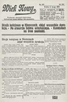 Wiek Nowy : popularny dziennik ilustrowany. 1922, nr6203
