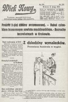 Wiek Nowy : popularny dziennik ilustrowany. 1922, nr6204