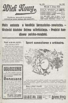 Wiek Nowy : popularny dziennik ilustrowany. 1922, nr6205