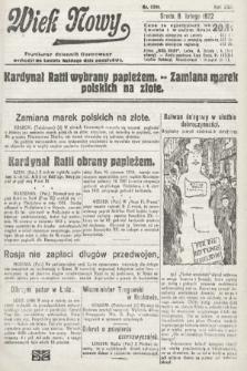 Wiek Nowy : popularny dziennik ilustrowany. 1922, nr6206