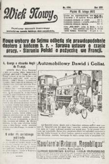 Wiek Nowy : popularny dziennik ilustrowany. 1922, nr6208