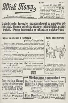 Wiek Nowy : popularny dziennik ilustrowany. 1922, nr6210