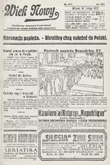 Wiek Nowy : popularny dziennik ilustrowany. 1922, nr6211