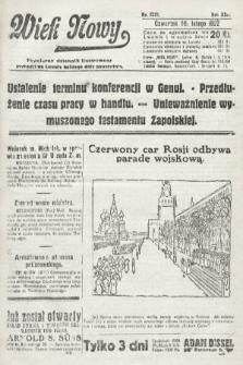Wiek Nowy : popularny dziennik ilustrowany. 1922, nr6213