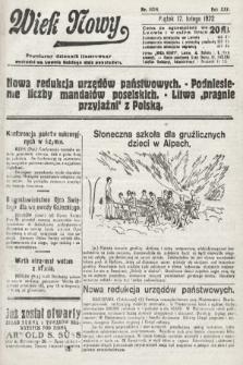 Wiek Nowy : popularny dziennik ilustrowany. 1922, nr6214