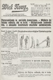 Wiek Nowy : popularny dziennik ilustrowany. 1922, nr6215