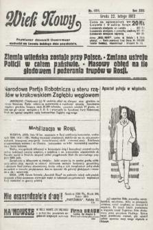 Wiek Nowy : popularny dziennik ilustrowany. 1922, nr6218