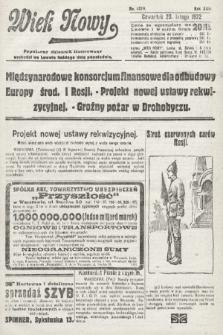 Wiek Nowy : popularny dziennik ilustrowany. 1922, nr6219