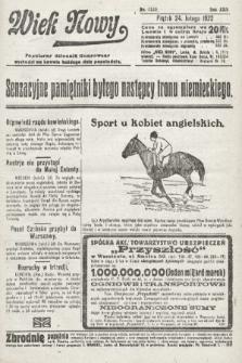 Wiek Nowy : popularny dziennik ilustrowany. 1922, nr6220