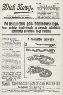 Wiek Nowy : popularny dziennik ilustrowany. 1922, nr6228