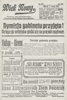 Wiek Nowy : popularny dziennik ilustrowany. 1922, nr6229