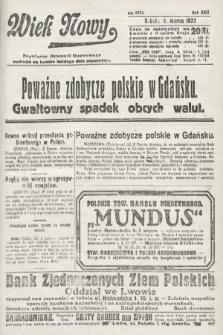 Wiek Nowy : popularny dziennik ilustrowany. 1922, nr6233
