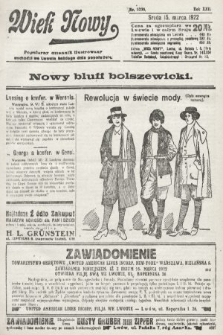 Wiek Nowy : popularny dziennik ilustrowany. 1922, nr6236