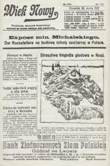 Wiek Nowy : popularny dziennik ilustrowany. 1922, nr6240