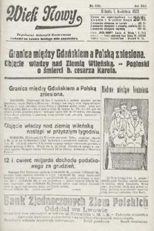 Wiek Nowy : popularny dziennik ilustrowany. 1922, nr6242